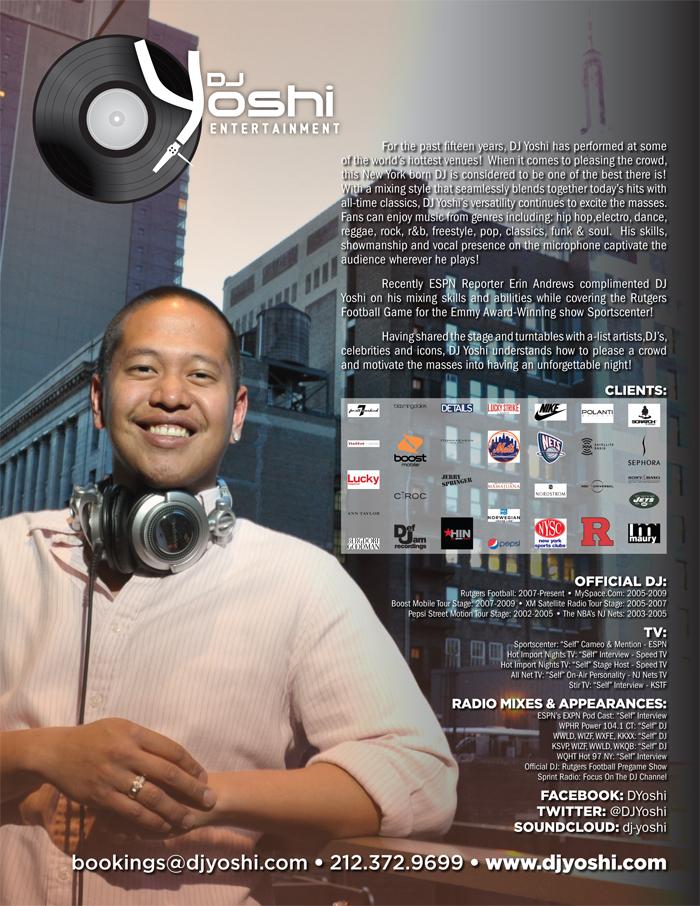 DJ Yoshi 2011 One Sheet