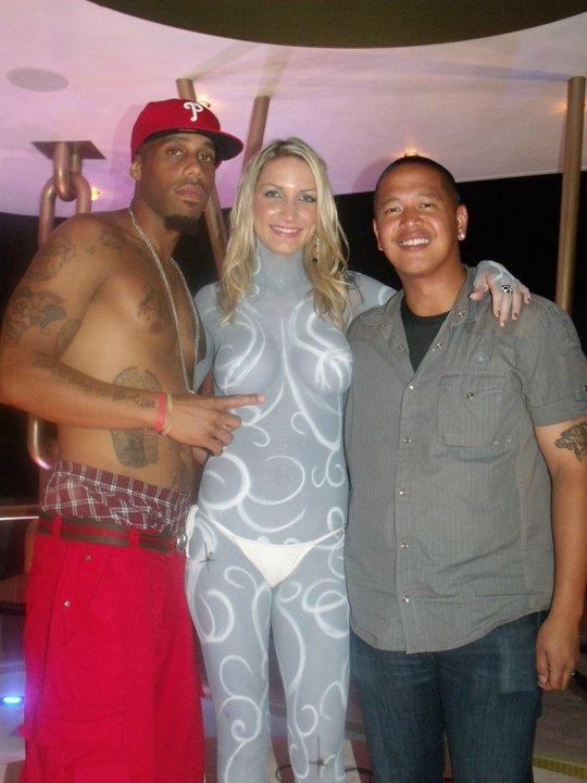 DJ Yoshi w/ Model Brittany Severn & Rapper Karlethal