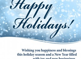 Wishing Everyone a Happy and Safe Holiday Season